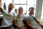 The Greenpop team - Jeremy Hewitt, Lauren O'Donnell and Misha Teasdale.