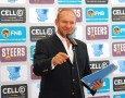 Former Springbok captain and Asem CEO Francois Pienaar introduces the exciting new Varsity Sports concept at the launch of the inter-university competition in Plettenberg Bay on Wednesday. Photo: Coetzee Gouws/Full Stop Communications