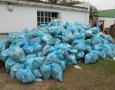 Bags of rubbish removed from the Swartkops River by the Zwartkops Conservancy's litter collection team.  Photo: Zwartkops Conservancy